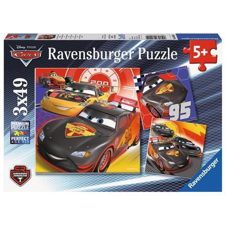 Ravensburger Puzzle 3 x 49 - Disney Pixar Cars: Przygoda na ulicy