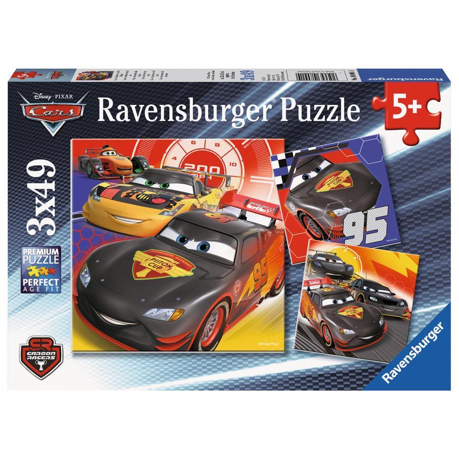 Ravensburger Puzzel 3 x 49 - Disney Pixar Cars: Avontuur op straat