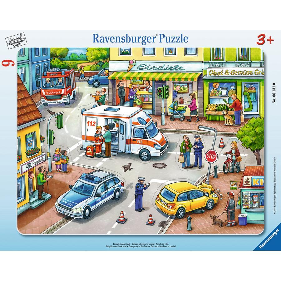 Ravensburger Rahmenpuzzle - Einsatz in der Stadt, 9 Teile