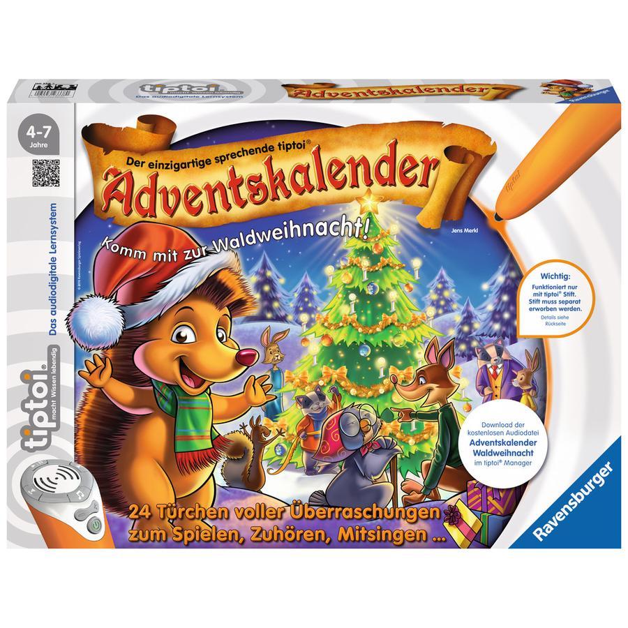 Ravensburger tiptoi® Adventskalender -  Waldweihnacht der Tiere