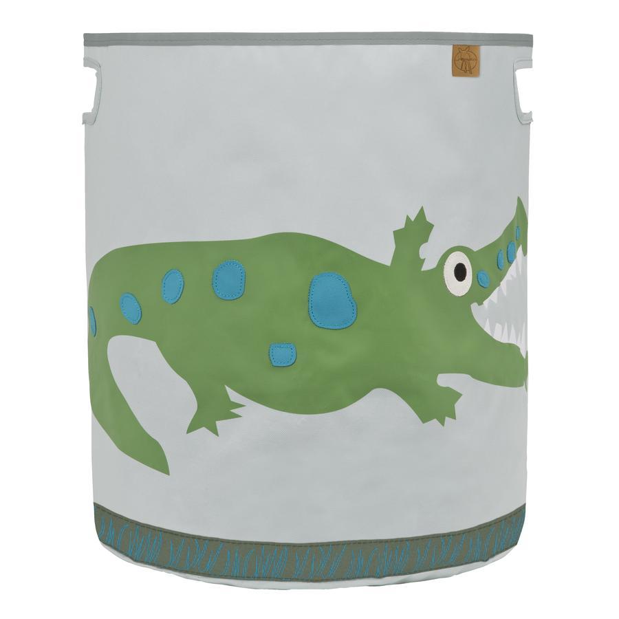 Lässig 4Kids Speelgoedmand Toy Basket Crocodile granny