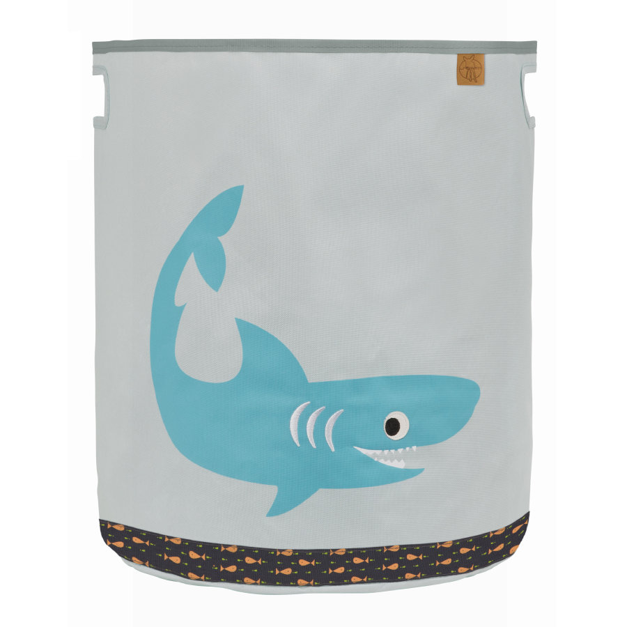 LÄSSIG 4Kids Bac à jouets Toy Basket Shark ocean