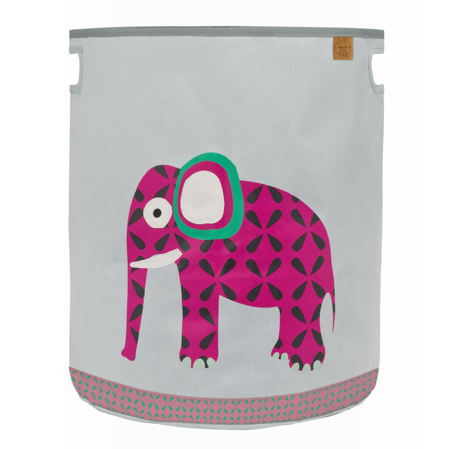 LÄSSIG 4Kids Bac à jouets Toy Basket Wildlife Elephant