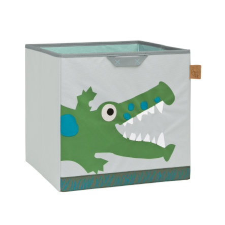 LÄSSIG 4Kids Toy Cube Storage Crocodile granny