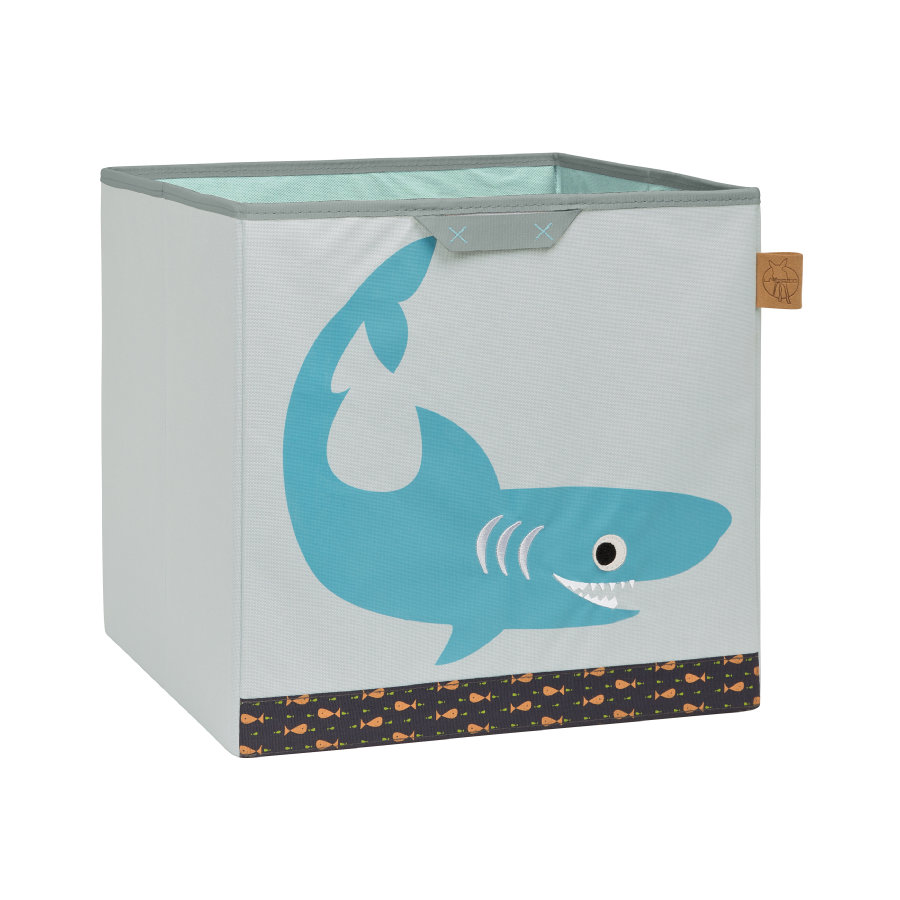 LÄSSIG 4Kids Toy Cube Storage Shark ocean