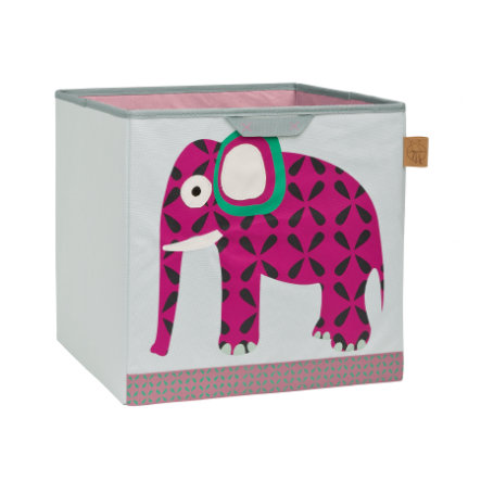 Lässig 4Kids Opbergmand Toy Cube Storage Wildlife Elephant