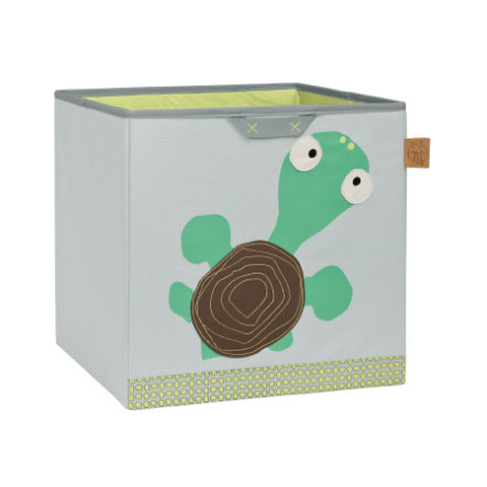 LÄSSIG 4Kids Toy Cube Storage Wildlife Turtle