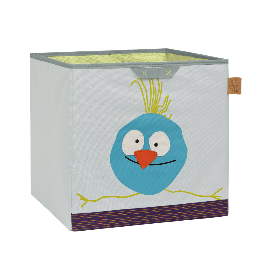 LÄSSIG 4Kids Boîte Toy Cube Storage Wildlife Birdie