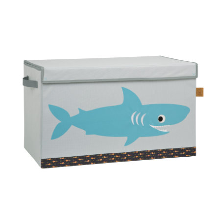 LÄSSIG 4Kids Coffre Toy Trunk Shark ocean