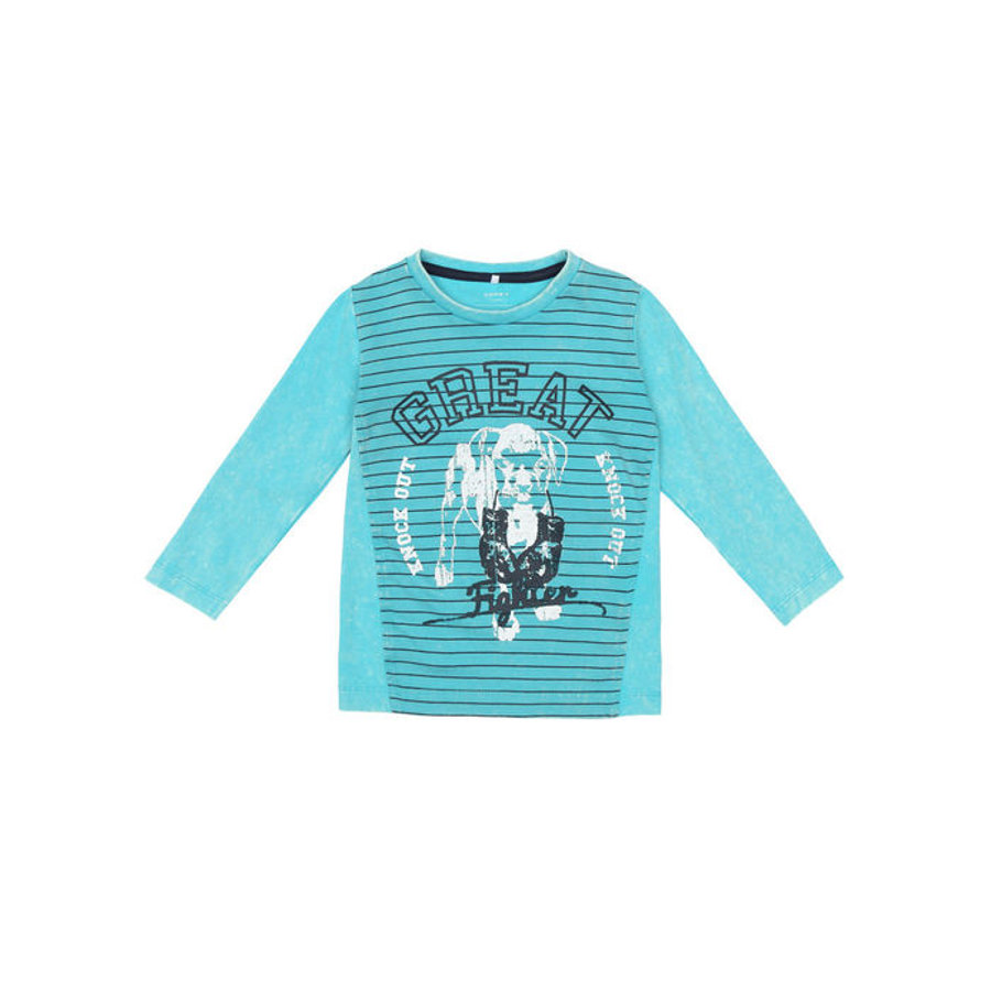 name it Boys Longsleeve Kinn peacock blue