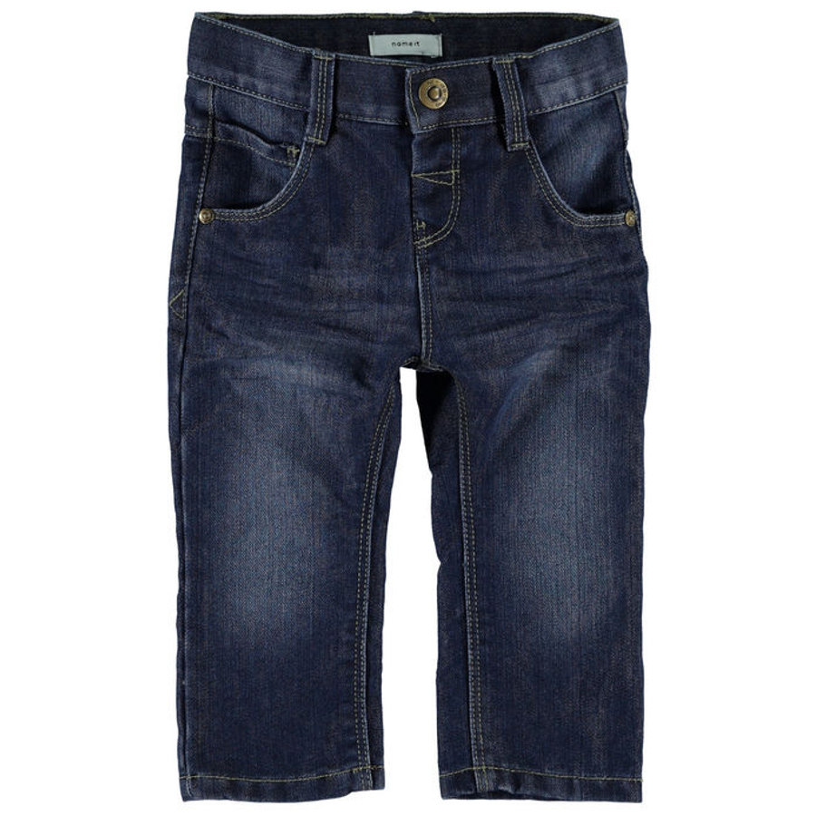name it Boys Džíny Alex dark blue denim