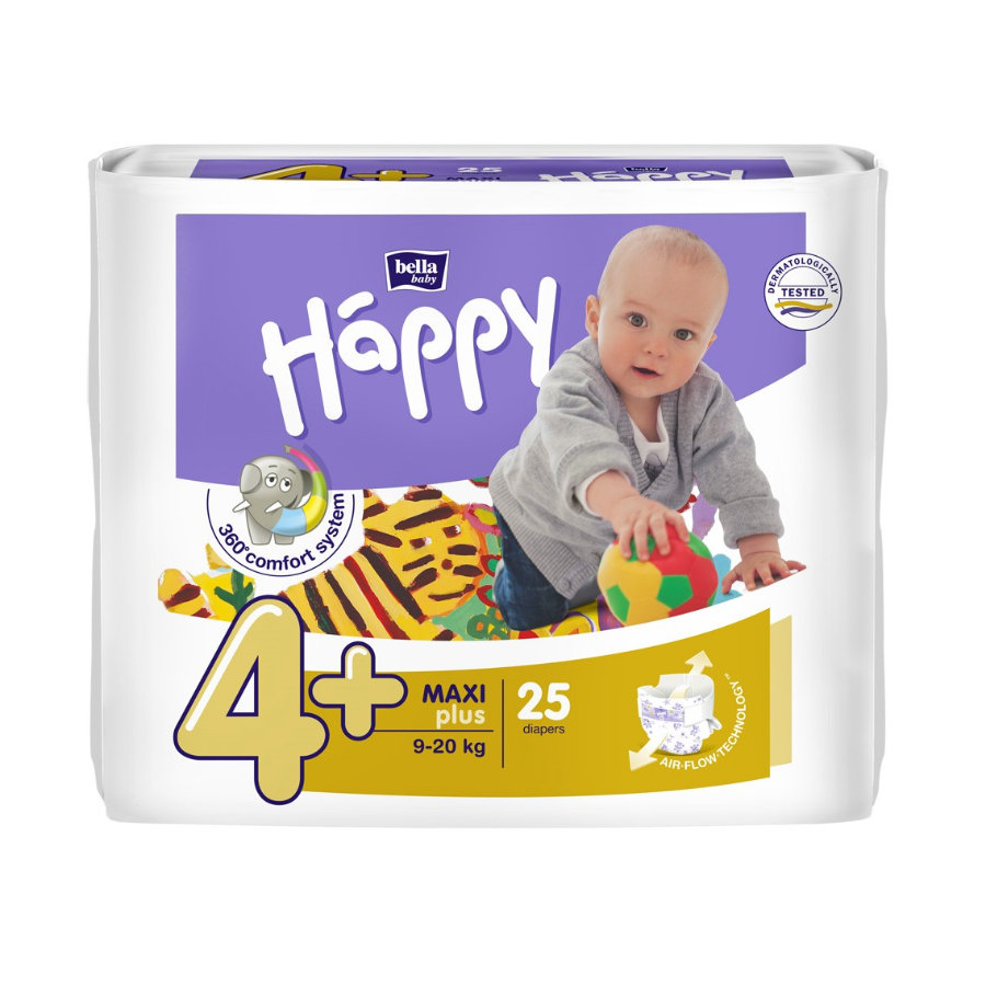 bella baby Happy Windeln Maxi Plus Gr. 4+ (9-20 kg) 25 Stück