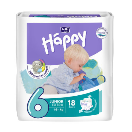 Bella Baby Happy Luiers Junior Extra Gr. 6 (16+ kg) 18 Stück