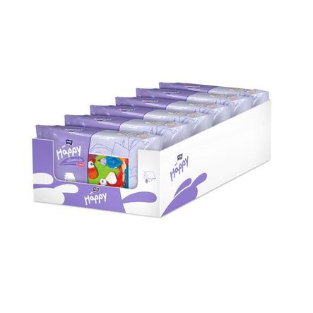 BELLA Happy Vlhčené ubrousky lotion & vitamín E 6 x 64 ks
