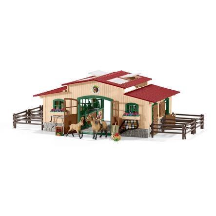 Schleich Figurine écurie avec chevaux et accessoires 42195
