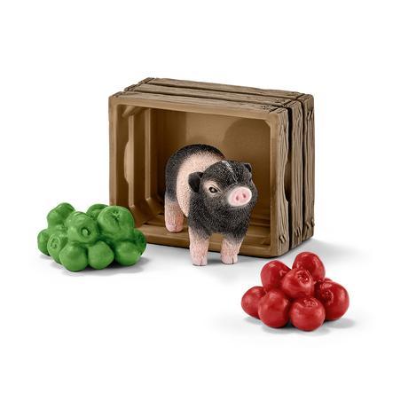 Schleich Mini-Schwein mit Äpfeln 42292