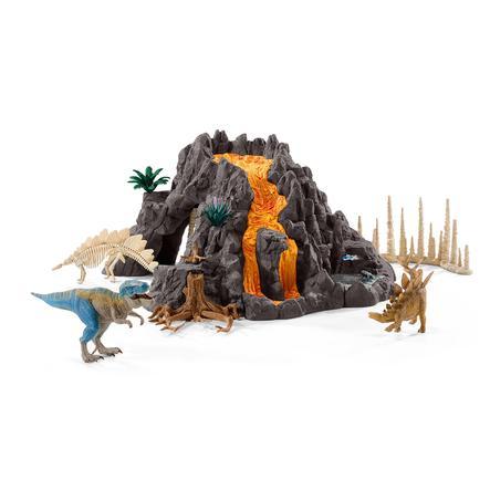 Schleich Velká sopka s T-Rexem 42305