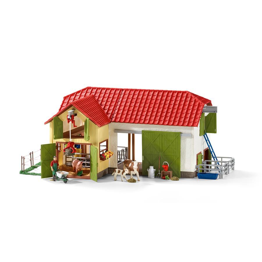 Schleich Figurine grande ferme animaux et accessoires 42333