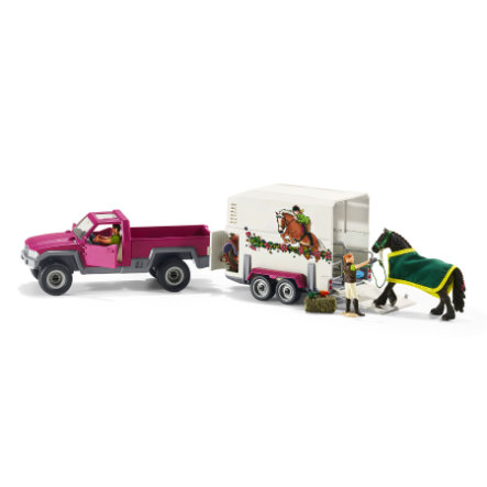 SCHLEICH Pick-up-bil med hästtransport 42346