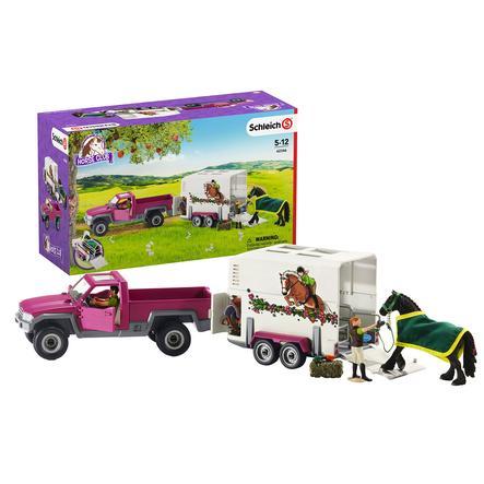 Schleich Figurine Pick Up Remorque Pour Cheval 42346 Roseoubleu Fr