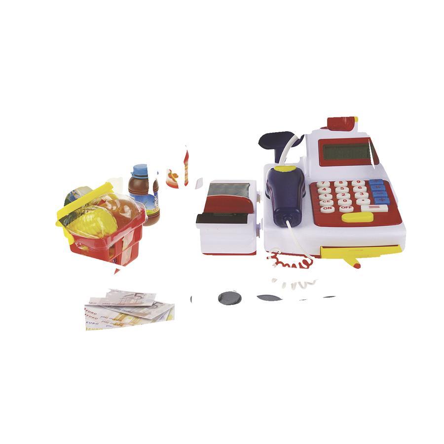 HAPPY PEOPLE Kasa sklepowa z kalkulatorem, Taśmą & zakupami