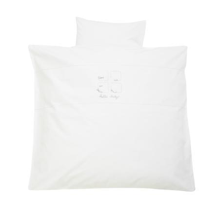 ALVI Sängkläder Hello Baby vit 80x80 cm
