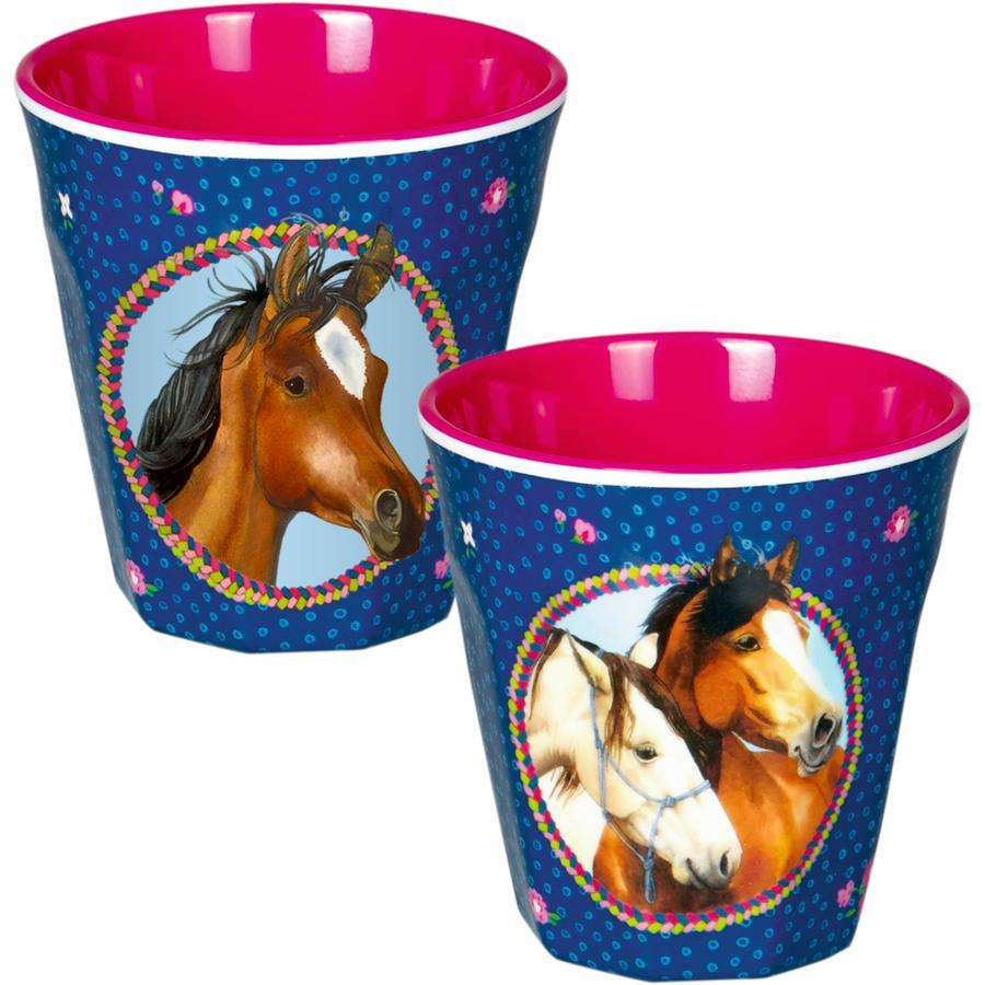 COPPENRATH Melamin-Becher - Pferdefreunde