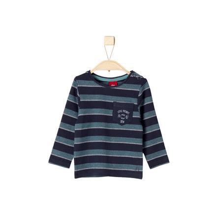 s.Oliver Boys Longlseeve mørkeblå striper