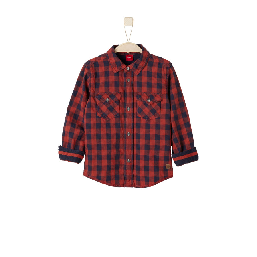 s.Oliver Boys Hemd dark red check slim
