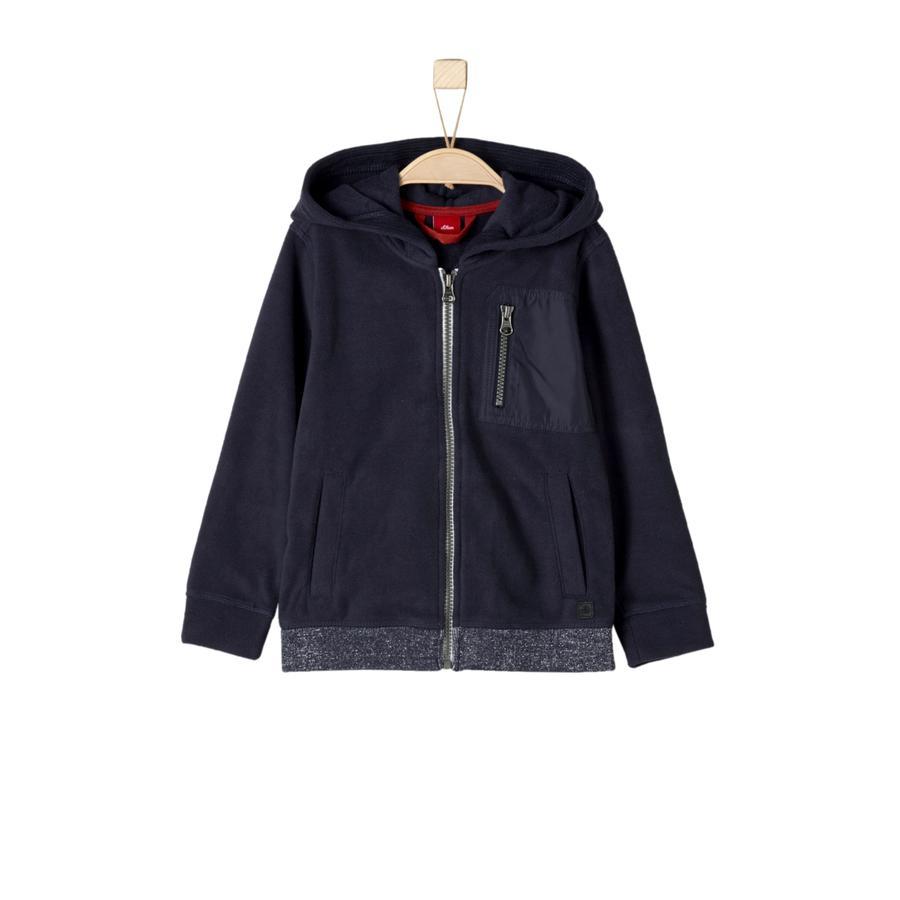 s.Oliver Boys Fleece jasje donkerblauw