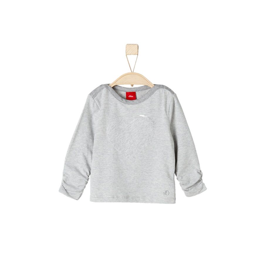 s.Oliver Girls Longsleeve grey melange stripes