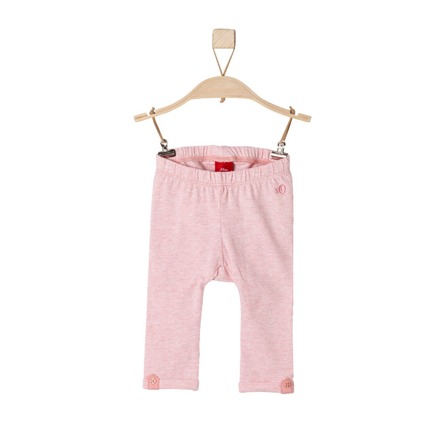 s.Oliver Girls Leggings light pink stripes