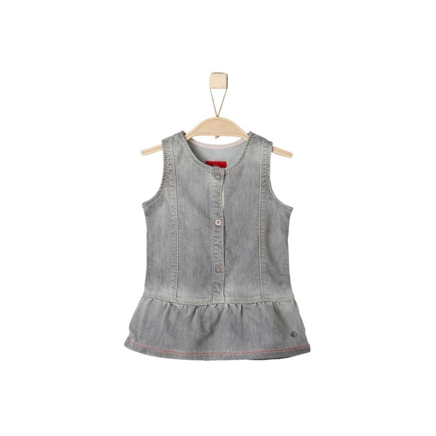 s.Oliver Girl s jurk grijs denim stretch