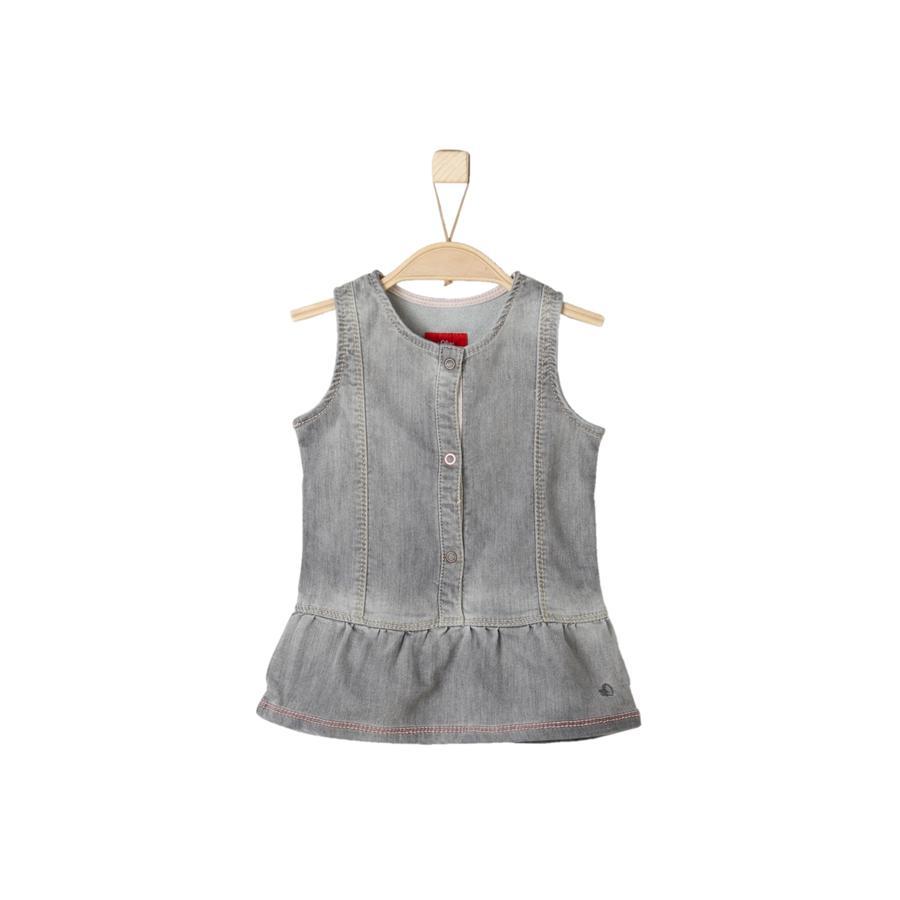 s.Oliver Girl s robe en jean stretch gris