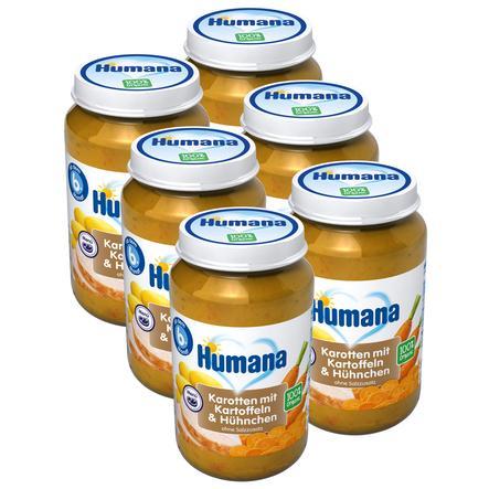 Humana Menü Karotten mit Kartoffeln und Hühnchen 6 x 190 g