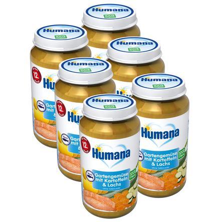 Humana Menü Gartengemüse mit Kartoffeln und Lachs 6 x 220 g