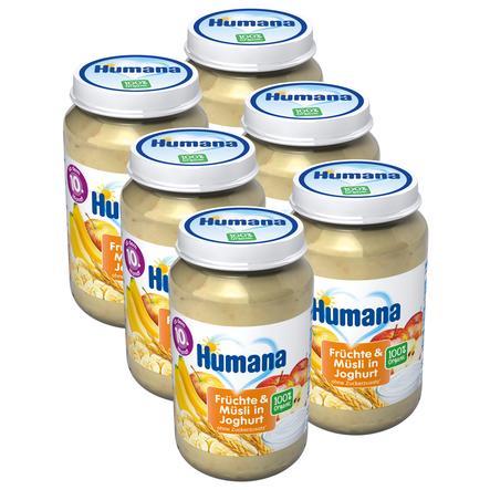 Humana Frucht & Joghurt Früchte und Müsli in Joghurt 6 x 190 g