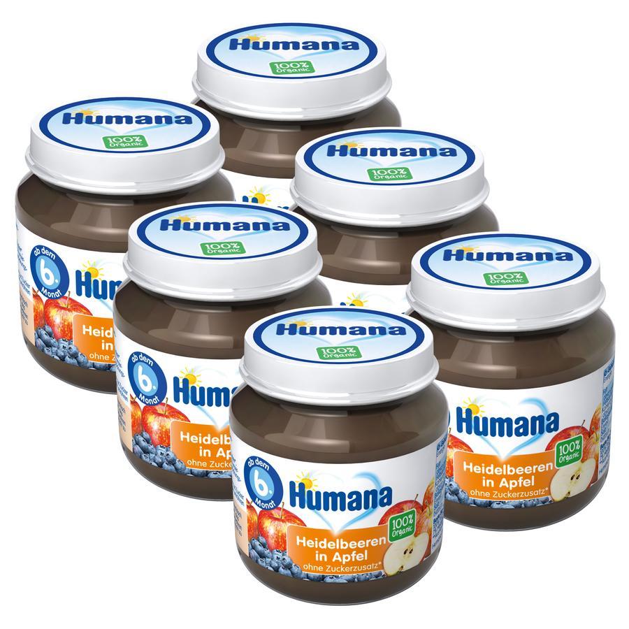 Humana Frucht Heidelbeeren in Apfel 6 x 125 g