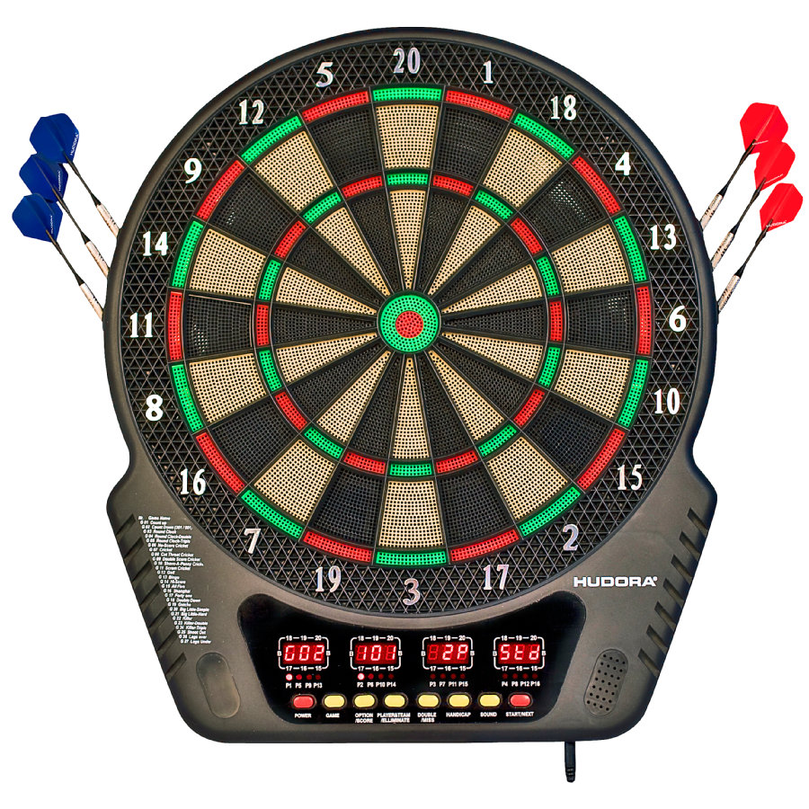 HUDORA® Elektronik-Dartboard LED 04