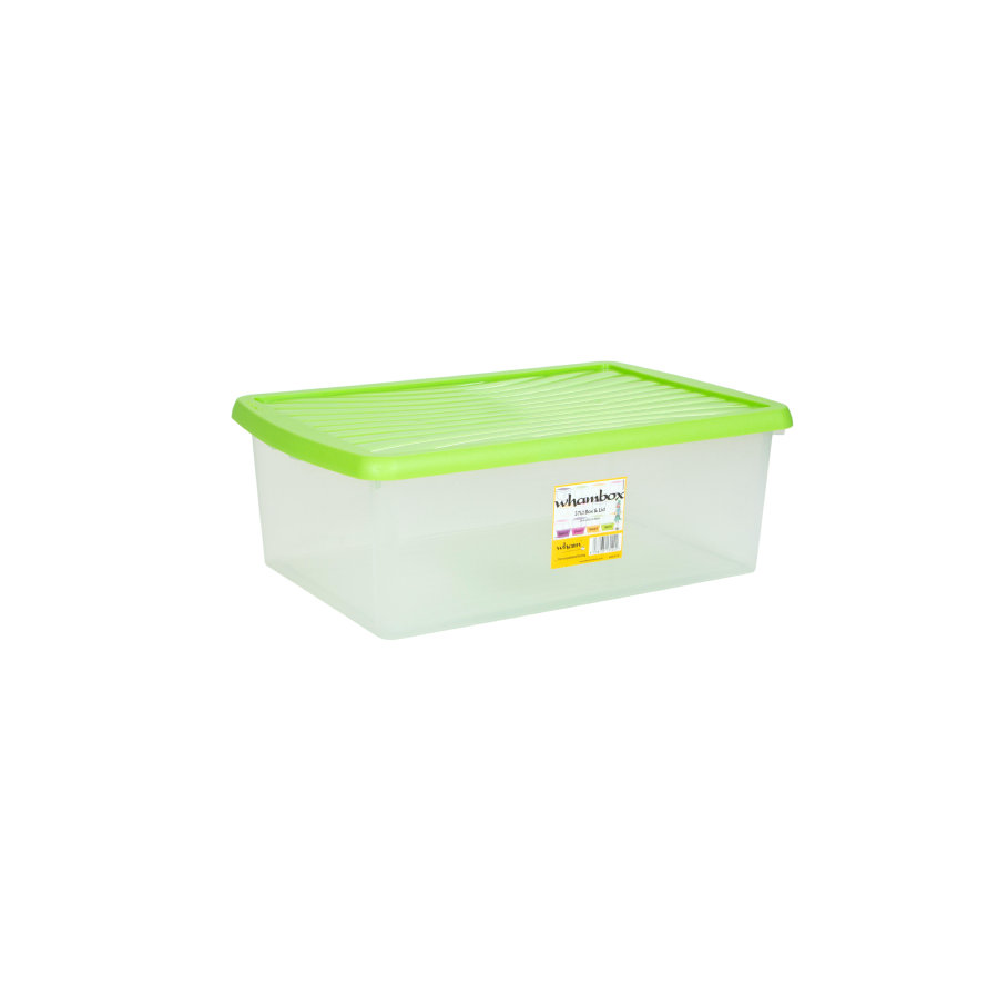 wham® Whambox 37 l mit Deckel (Unterbettbox), limonengrün