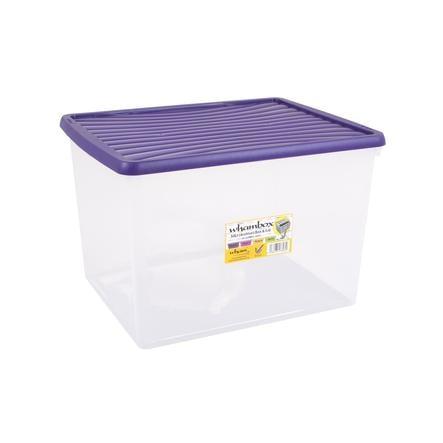 wham® Whambox 50 l mit Deckel (Aufbewahrungsbox), violett