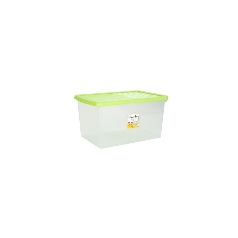 wham® Whambox 54 l mit Deckel (Aufbewahrungsbox), limonengrün