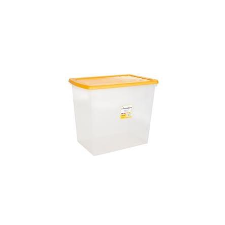 wham® Whambox 90 l mit Deckel (Aufbewahrungsbox), gelb