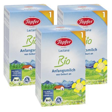 TÖPFER Lactana Organic 1 Infant Formula 3x600g