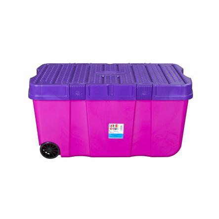wham® Rollbox mit Deckel 100 l, pink