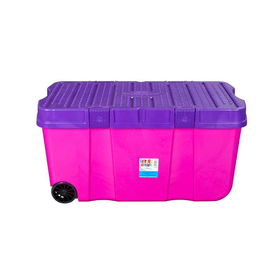 wham® Box na kolečkách s víkem 100 l, pink