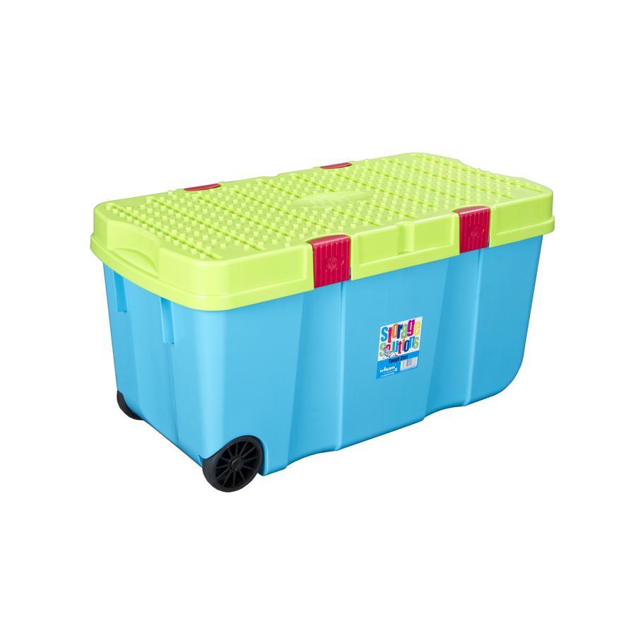 wham® Rollbox mit Deckel 100 l, blaubeer