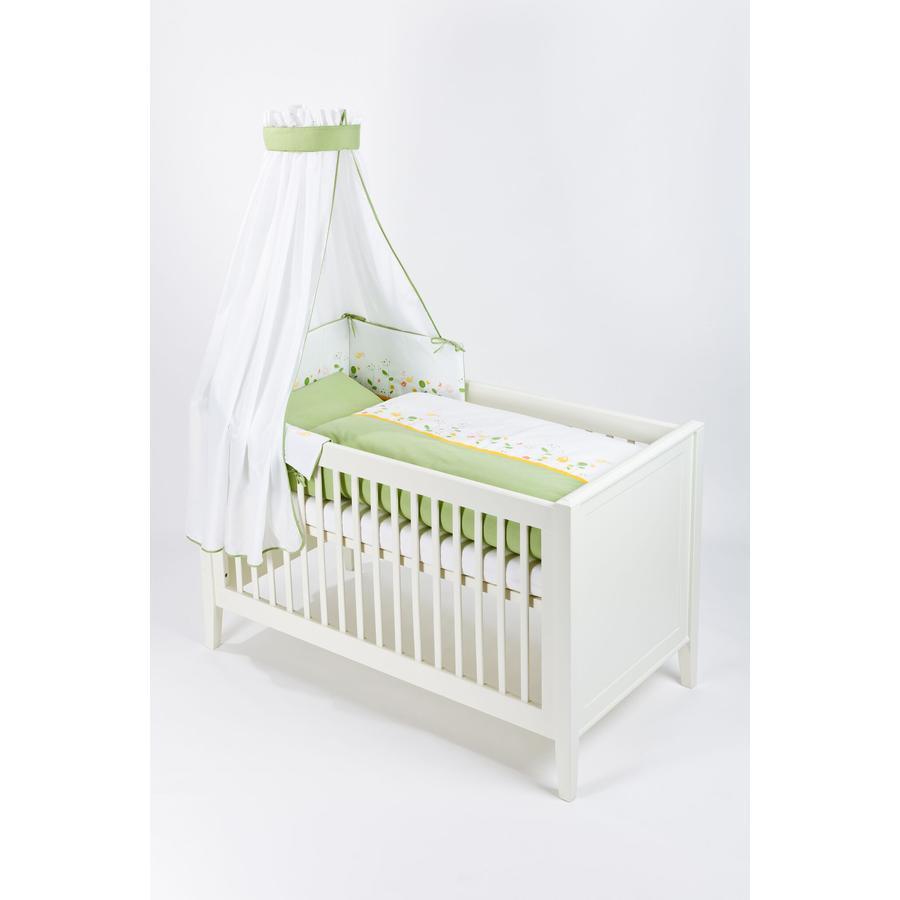 Träumeland Bett-Set 3-tlg 100x135cm Wiesenglück grün