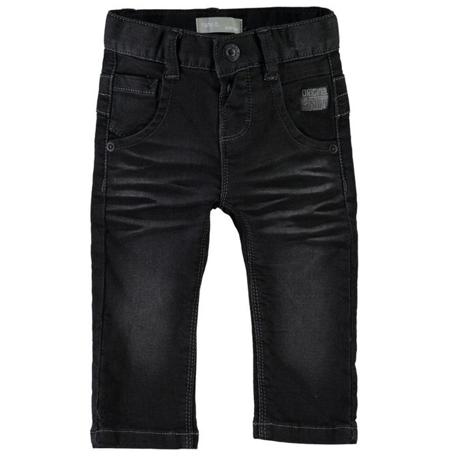 name it Boys Spodnie Jeans Avin black denim
