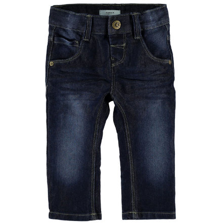 name it Spodnie Jeans alex dark blue denim